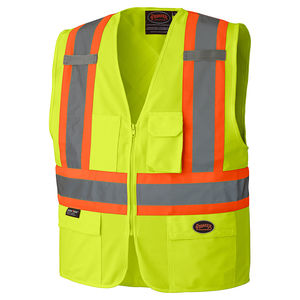 High Visibility Zipper Front Vest